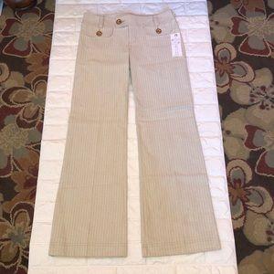 Nanette Lepore pants bootcut with cute buttons sz4